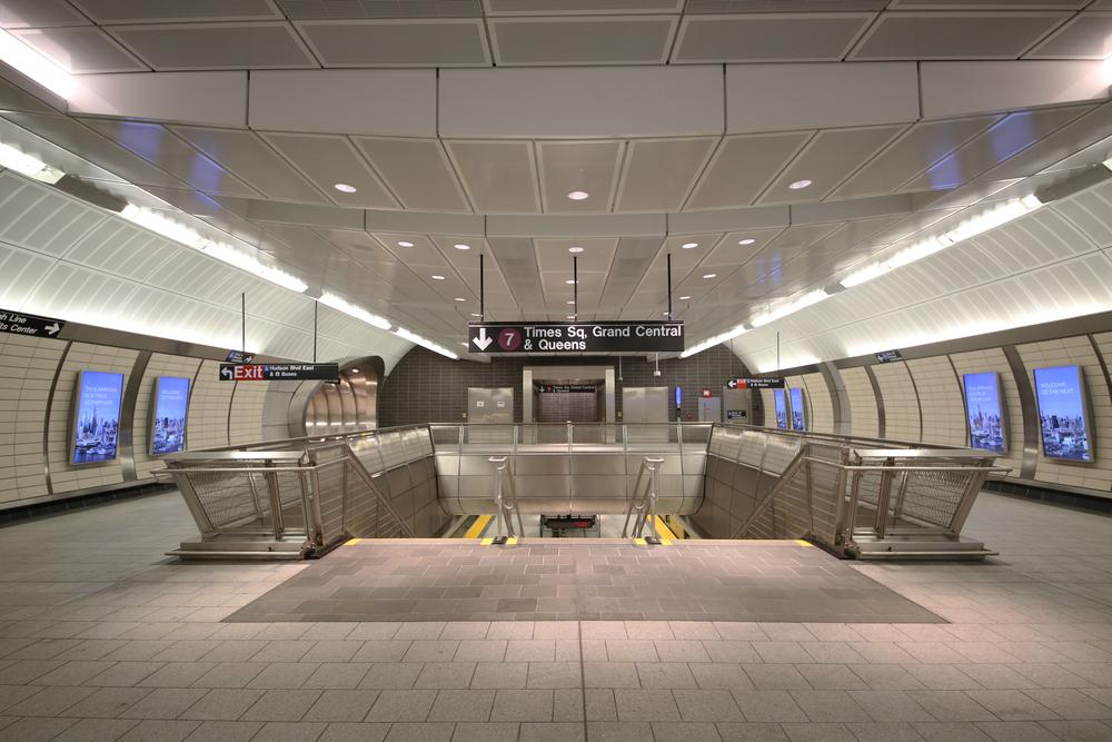 Subway station at Hudson Yards